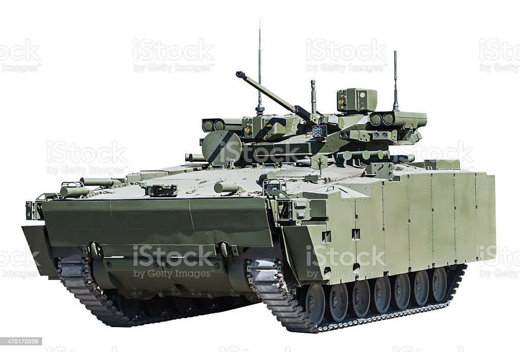 infantry fighting vehicle stock photo