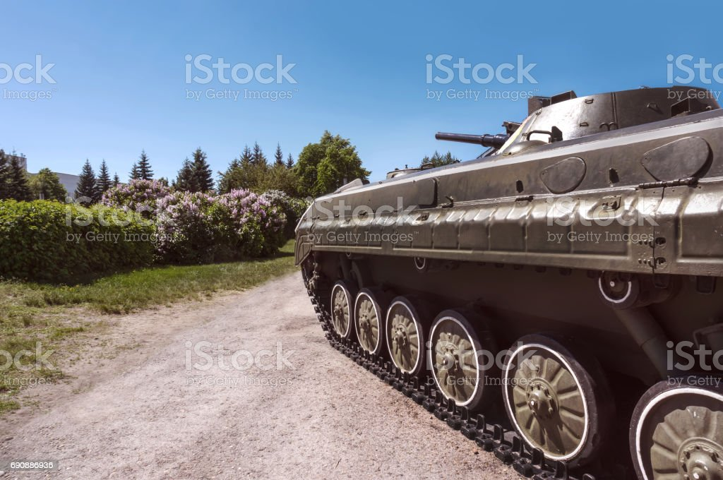 infantry light tank stock photo