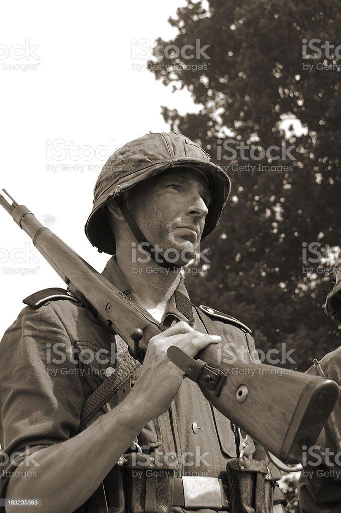 WW2 Infantry Soldier. stock photo