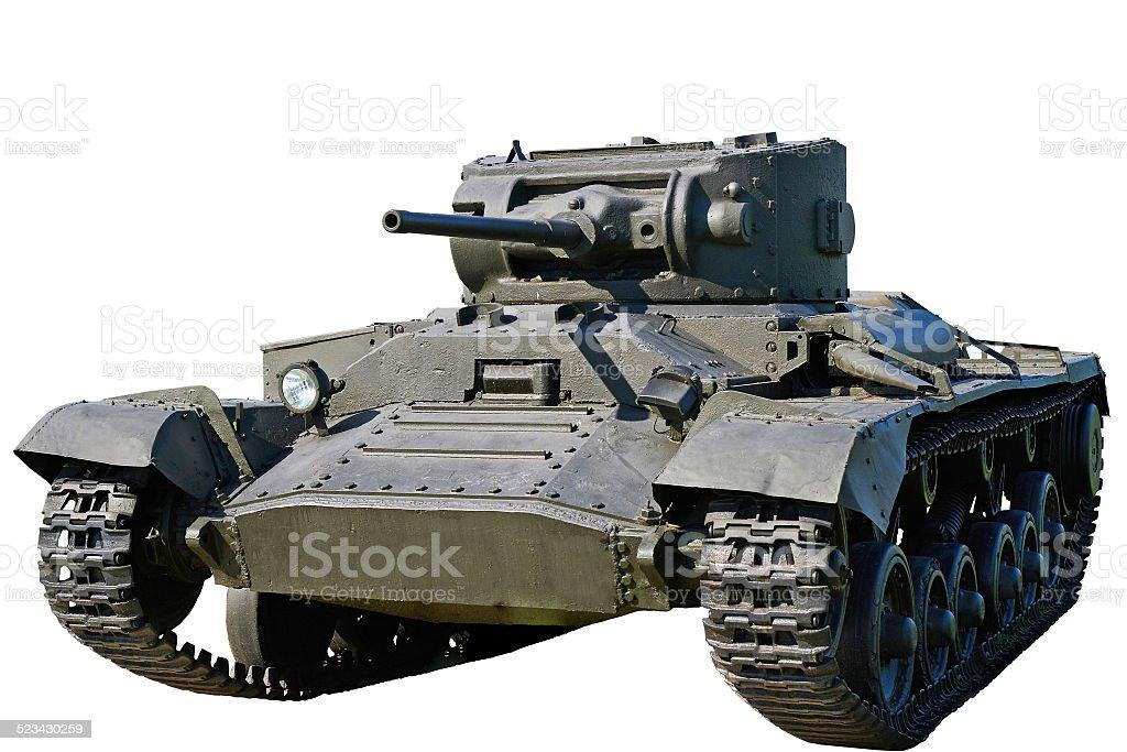 Infantry tank Mk.III Valentine VI  isolated stock photo