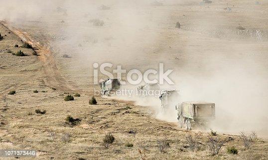 Infantry transporter in action