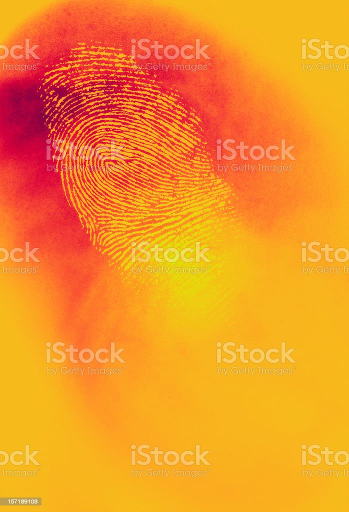 Infared Thermal Camera with Fingerprint royalty-free stock photo