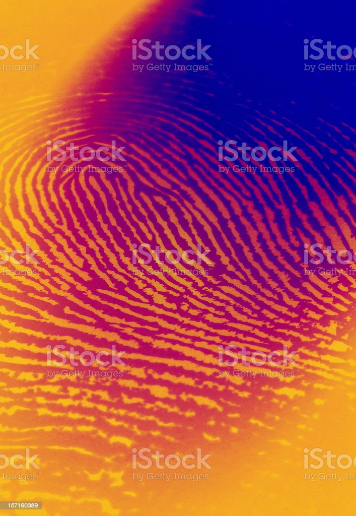 Infared Thermal Camera with Fingerprint stock photo