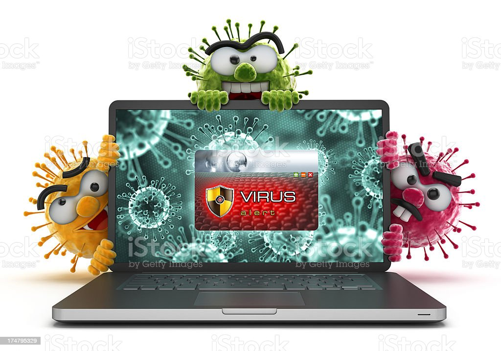 Infected computer stock photo