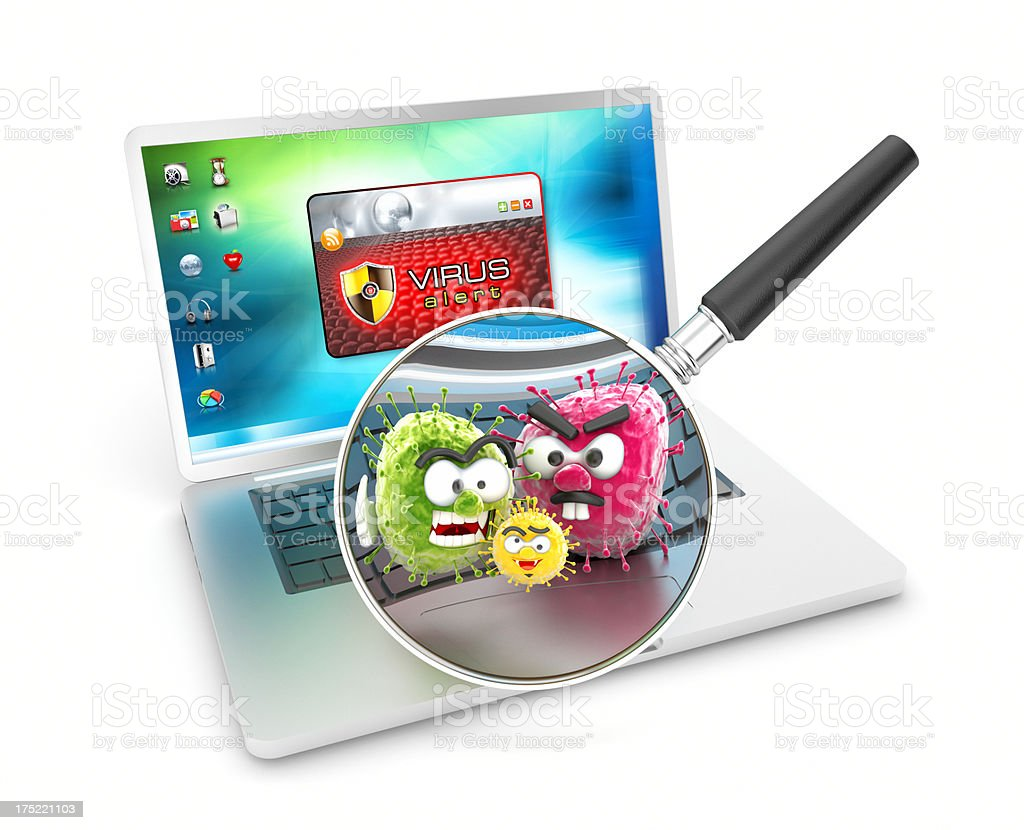 Infected computer royalty-free stock photo