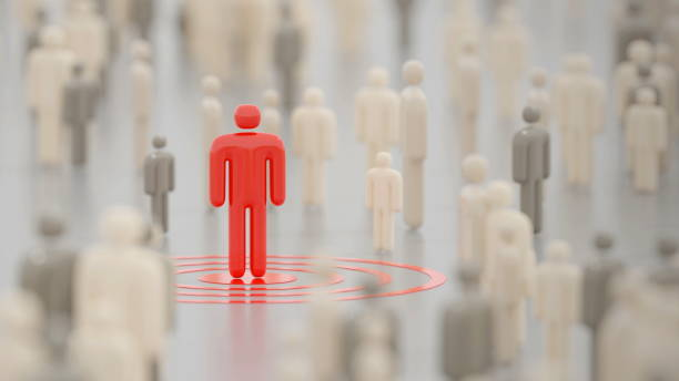 Infected person amid a large crowd in a public space. Digital 3D render concept. Infected person amid a large crowd in a public space. Digital 3D render concept. amid stock pictures, royalty-free photos & images