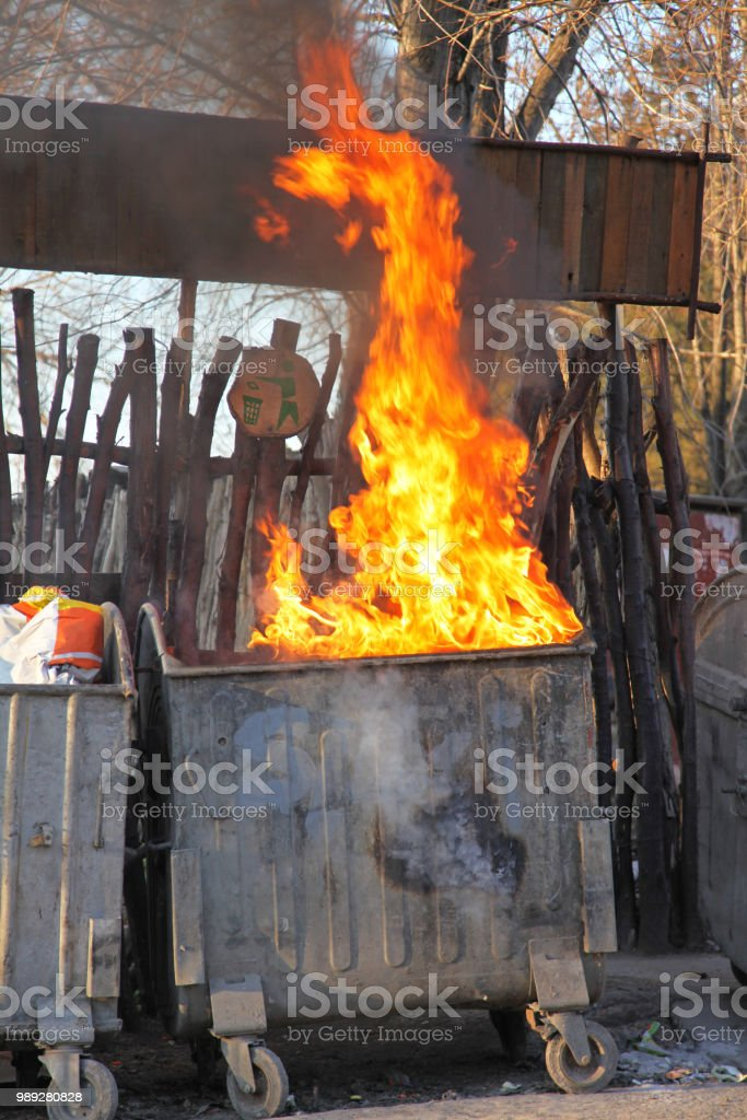 Inferno Fire stock photo