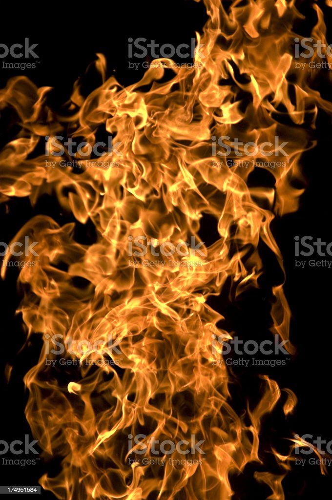 Inferno, Flames at night stock photo