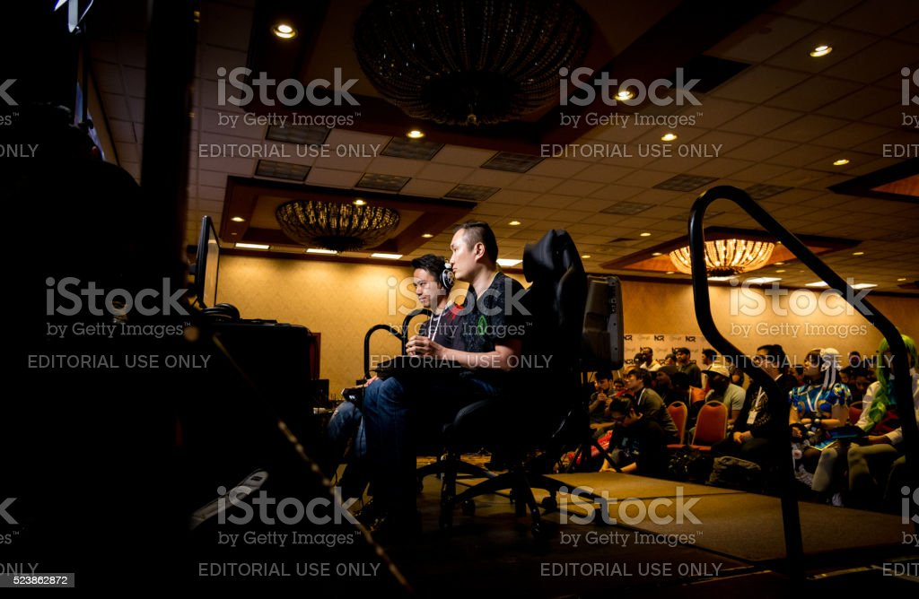 RZR Infiltration versus MCZ Tokido Street Fighter V NCR 2016 stock photo