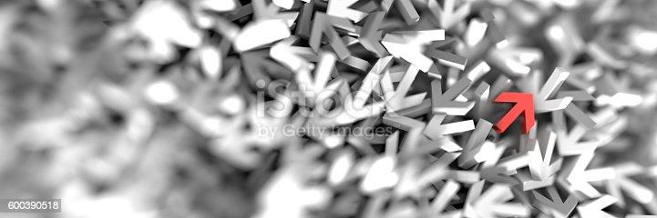 625206760 istock photo Infinite arrow signs, 3d rendering 600390518