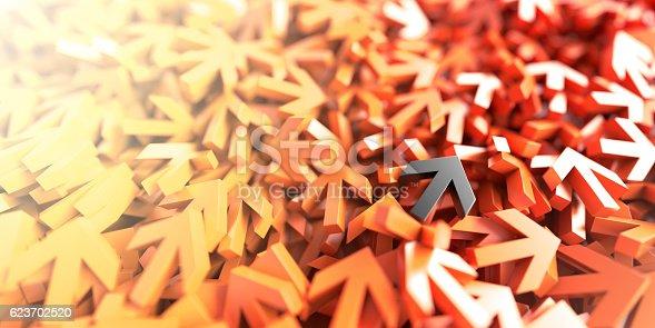 625206760 istock photo Infinite arrow signs, 3d rendering 623702520