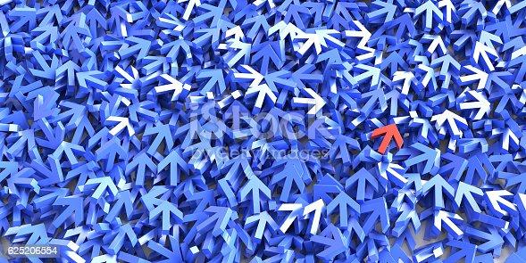 625206760 istock photo Infinite arrow signs, 3d rendering 625206554