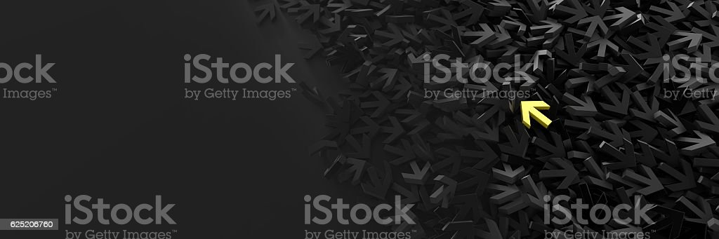 Infinite arrow signs, 3d rendering stock photo