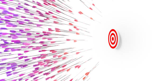 Infinite arrows, target and motivation concepts stock photo