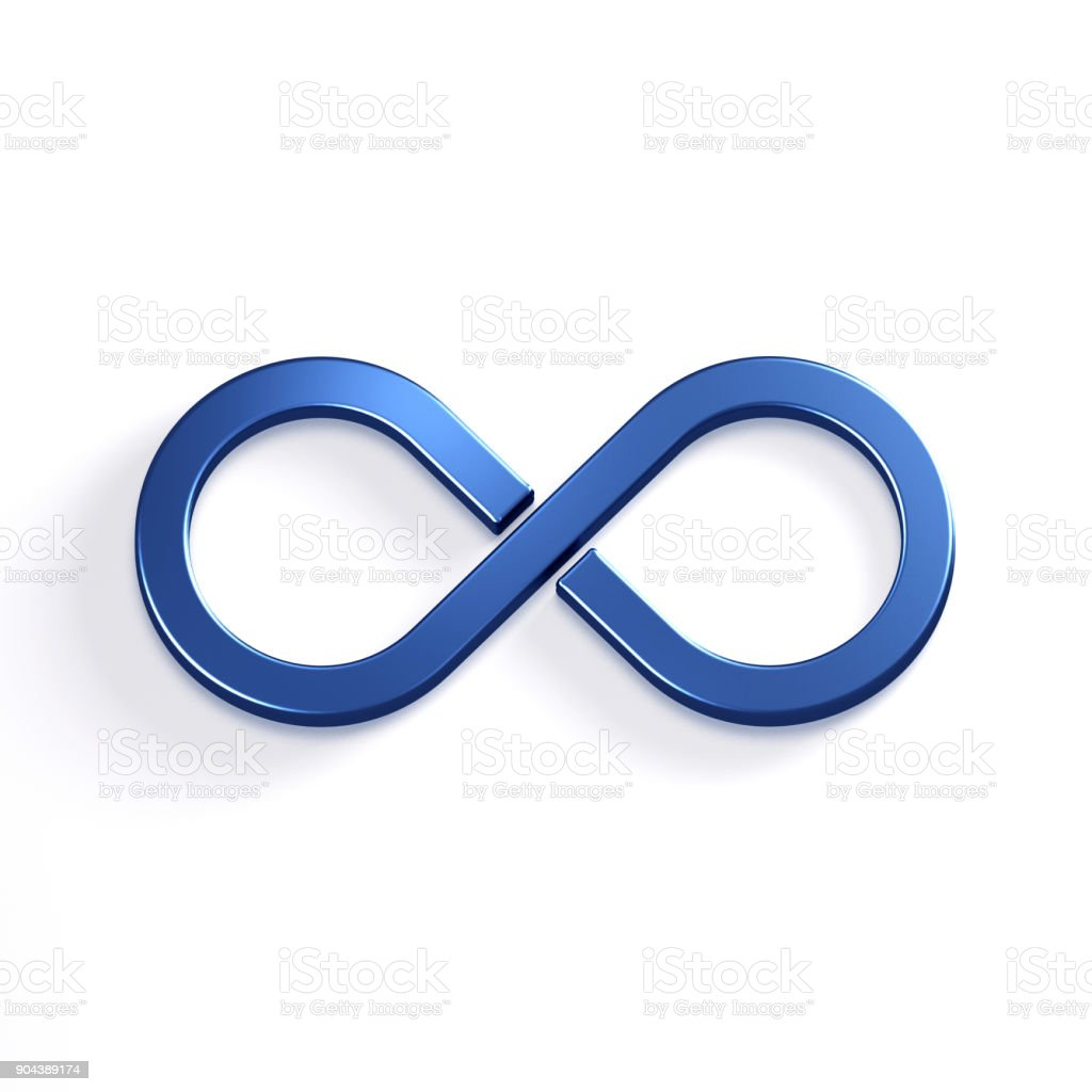 Infinite Loop Symbol. 3D Render Illustration stock photo