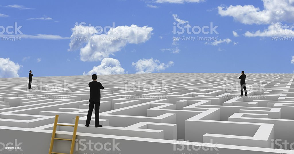 Infinite Maze royalty-free stock photo