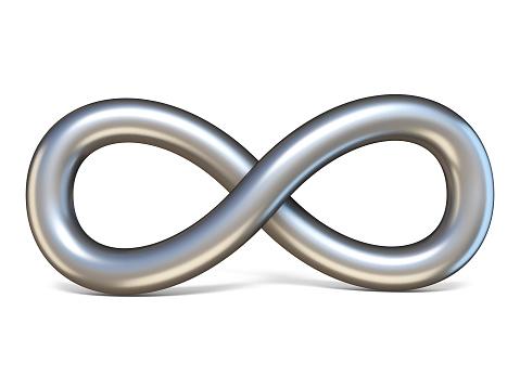 istock Infinite metal sign 3D 1064792410