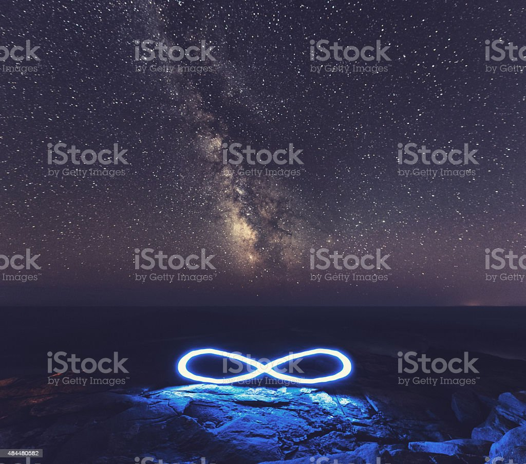 Infinite Milky Way stock photo