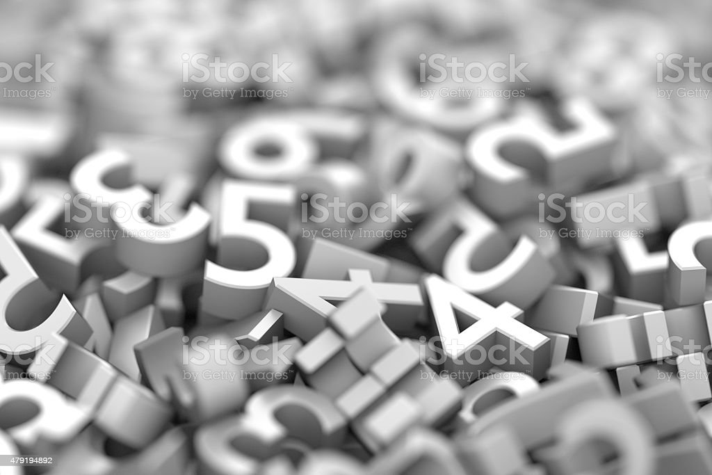 Infinite numbers background stock photo