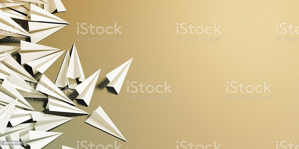 Infinite paper planes stock photo