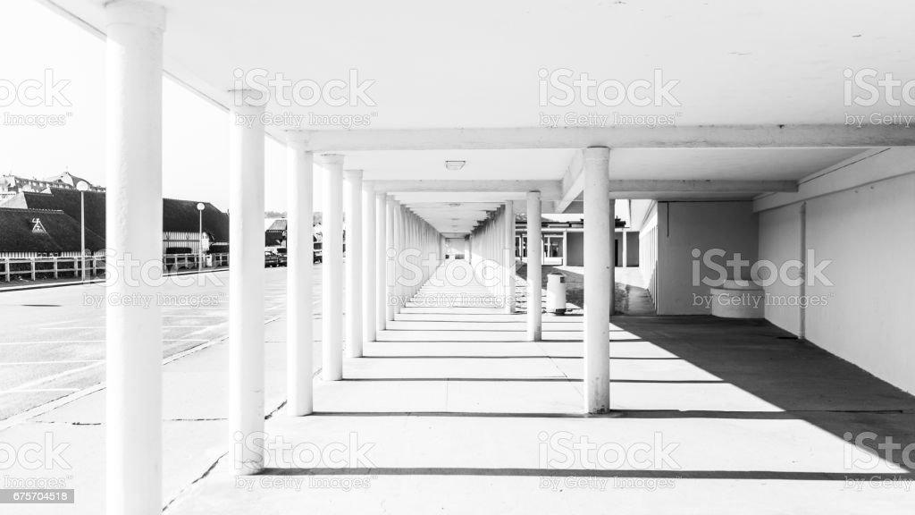 在多維爾市中心的無限視角 免版稅 stock photo
