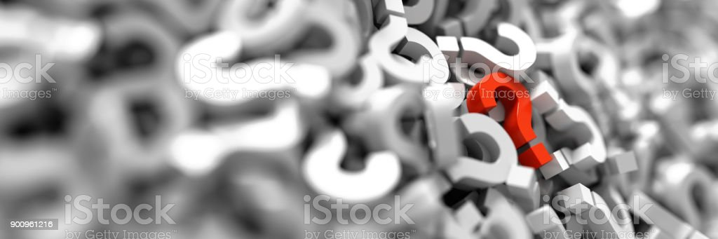 infinite question icons, original 3d rendering; business and marketing concepts stock photo