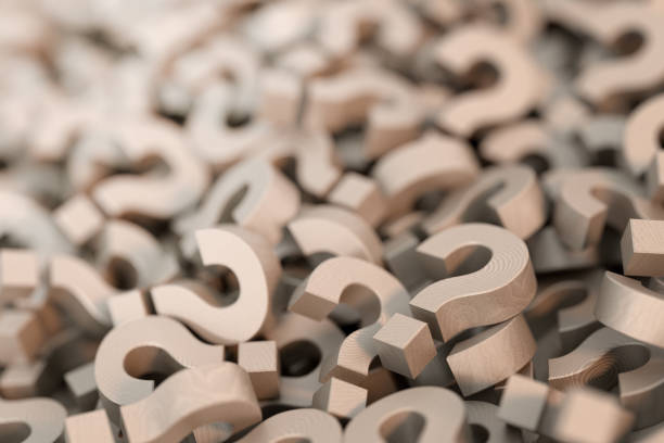Infinite question marks, 3d rendering stock photo