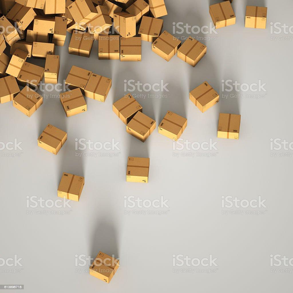 Infinite shipping boxes stock photo