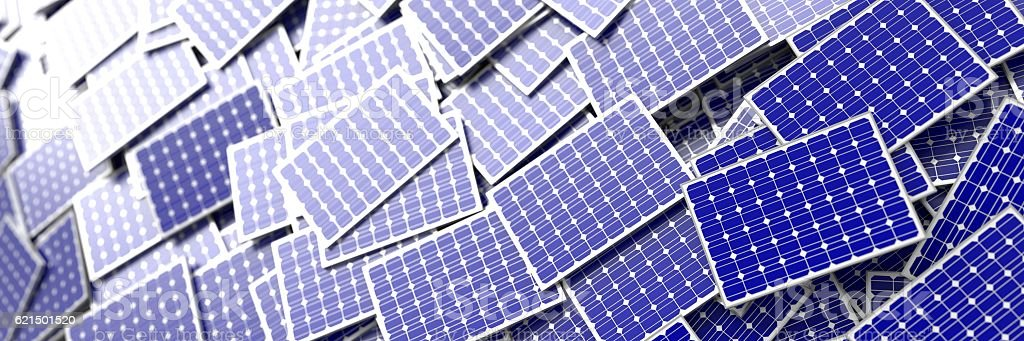 Infinite solar panels background foto stock royalty-free