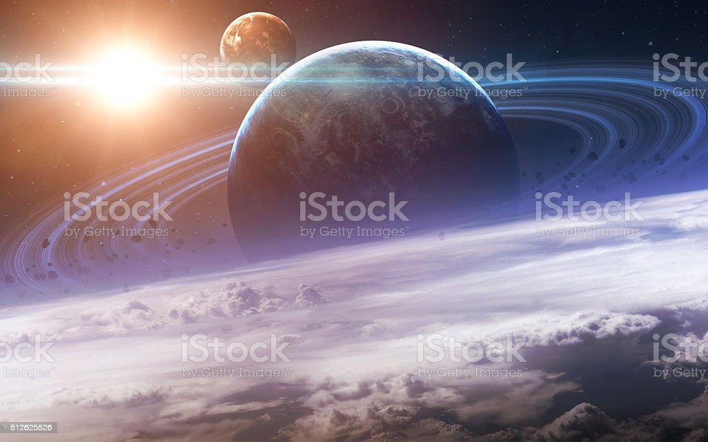 Infinite space background with nebulas and stars. This image elements stock photo
