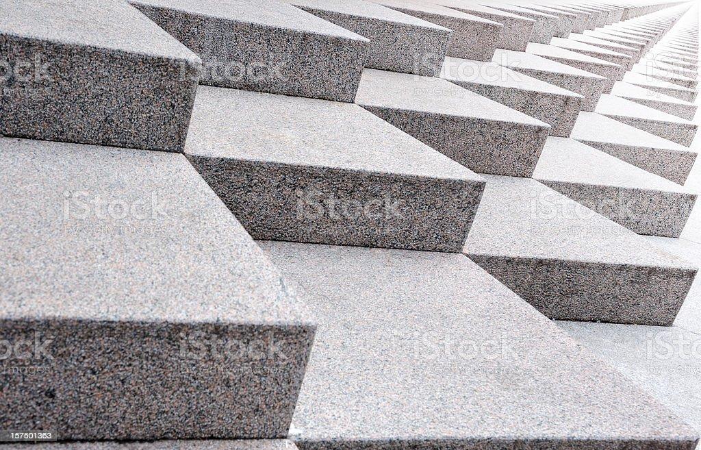 Infinite stairway, sideways into bright light royalty-free stock photo
