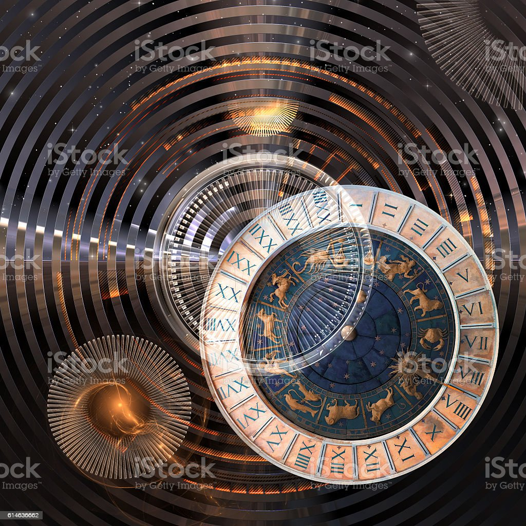 Infinite time, 3D illustration – Foto