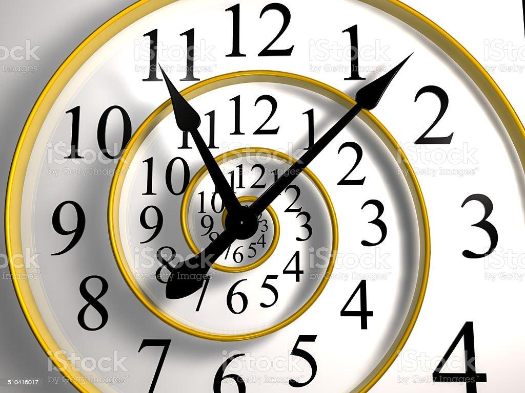 infinite time clock stock photo
