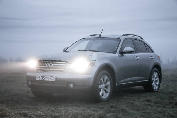 Infiniti FX35 Novyy Urengoy, Russia - June 15, 2017: Motor car Infiniti FX35 at the countryside. fx network stock pictures, royalty-free photos & images