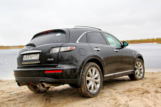 Infiniti FX45 Novyy Urengoy, Russia - September 14, 2014: Motor car Infiniti FX45 at the countryside. fx network stock pictures, royalty-free photos & images
