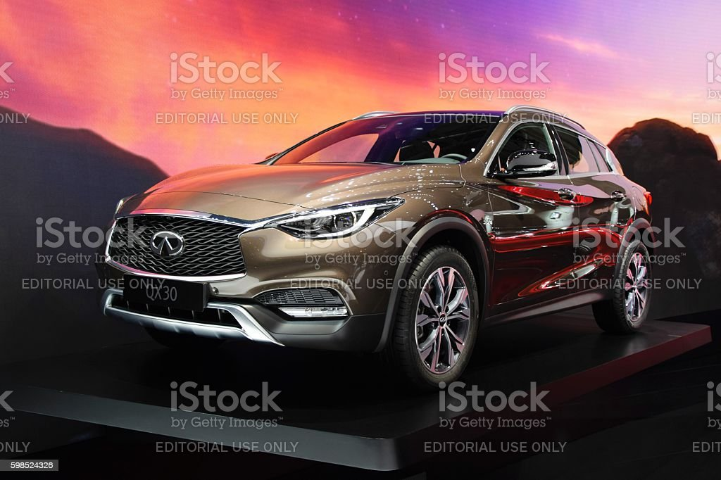 Infiniti QX30 in the showroom