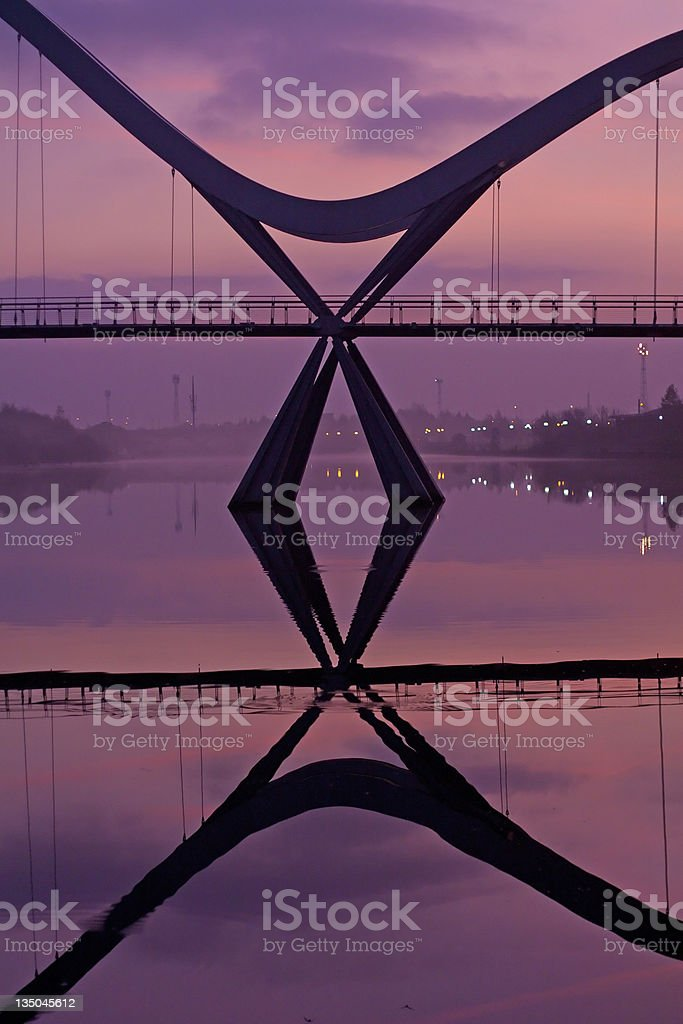 Infinity Bridge Detail Stockton on Tees stock photo