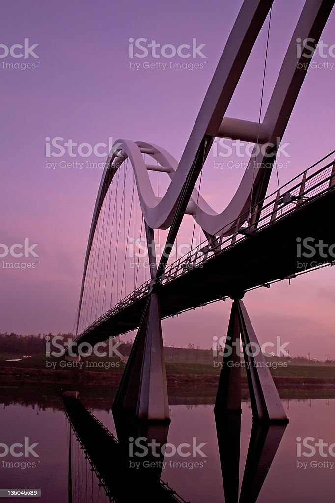 Infinity Bridge Stockton on Tees stock photo