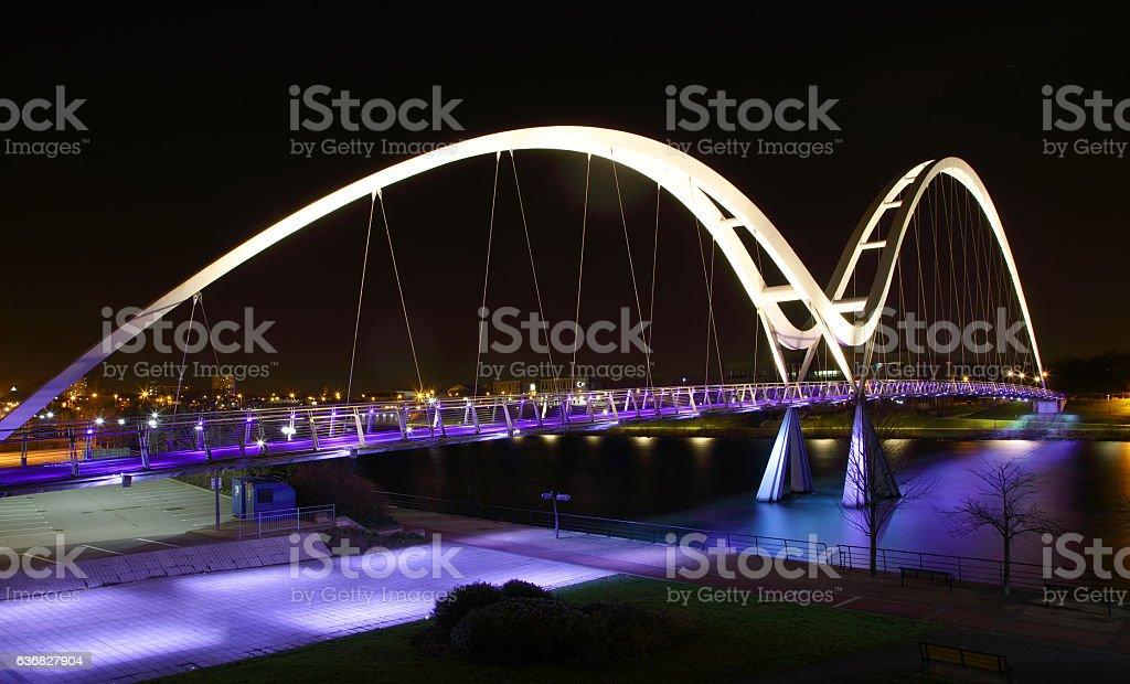 Infinity Bridge,Stockton,Cleveland,England stock photo