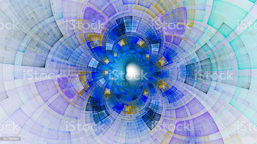 Infinity. Colored circles and spirals. Radiation. stock photo