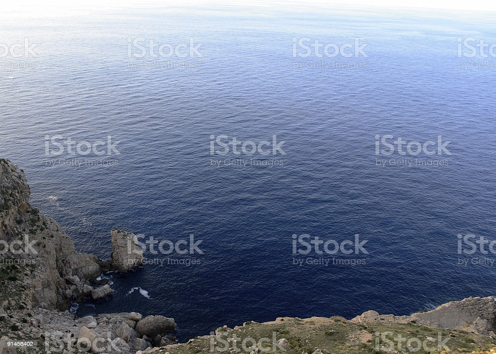 Infinity from the cliff royalty-free stock photo