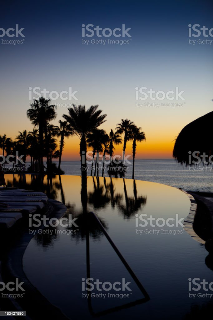 Infinity Pool at Sunset royalty-free stock photo