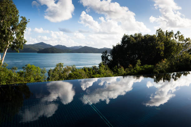 infinity pool - stephen lynn stock pictures, royalty-free photos & images
