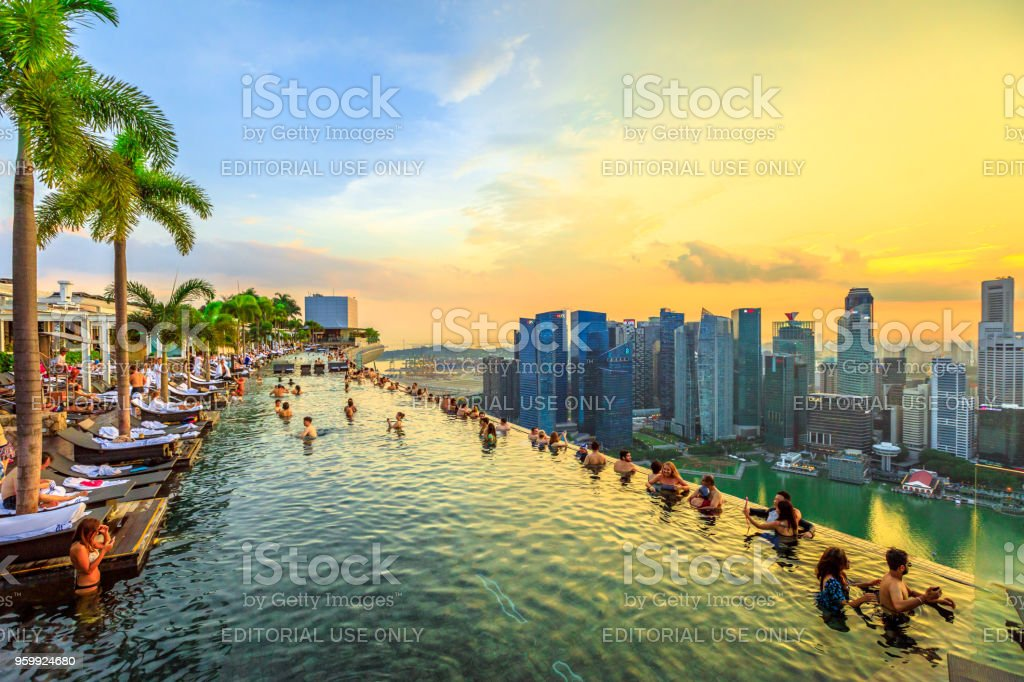 Infinity Pool Singapore - Foto stock royalty-free di Adulazione