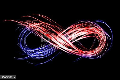 istock infinity sign created by neon freeze light on a black background 900043412
