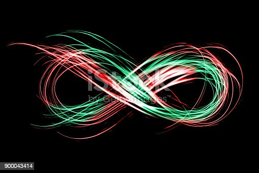 istock infinity sign created by neon freeze light on a black background 900043414