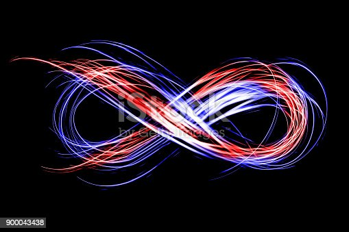 istock infinity sign created by neon freeze light on a black background 900043438