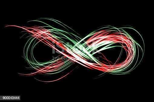 istock infinity sign created by neon freeze light on a black background 900043444