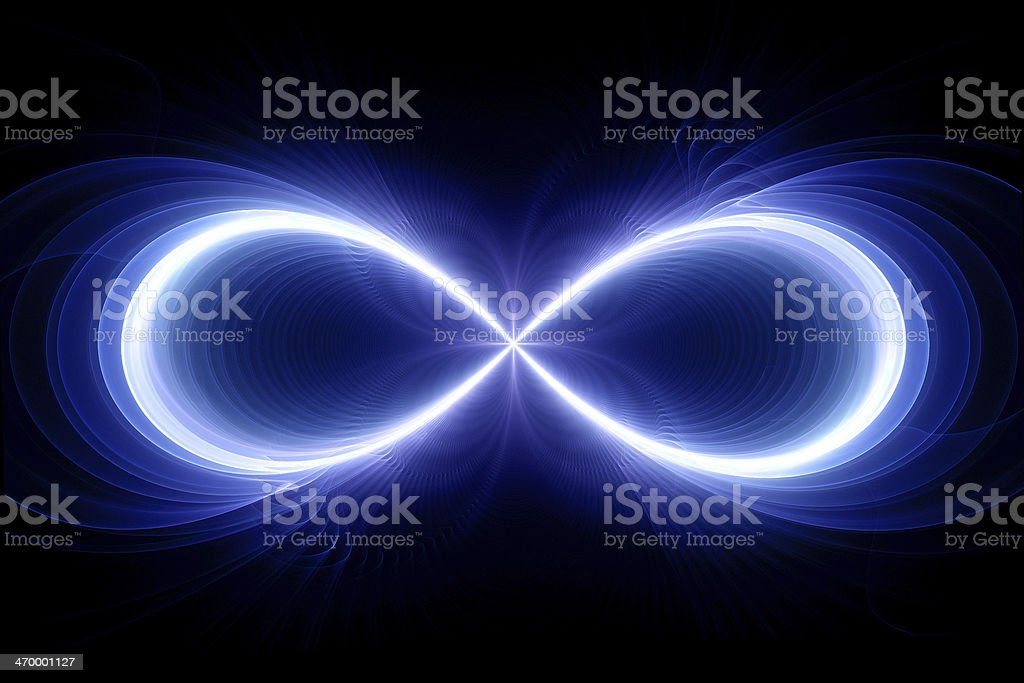 Infinity sign stock photo