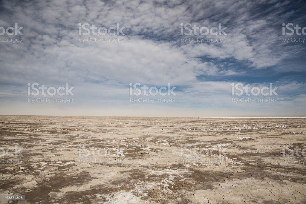 Infinity View of the Black Rock Desert Playa stock photo